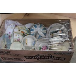 BOX OF CHINA CUPS AND SAUCERS
