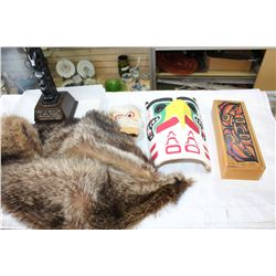 FUR COLLAR AND FIRST NATIONS ITEMS