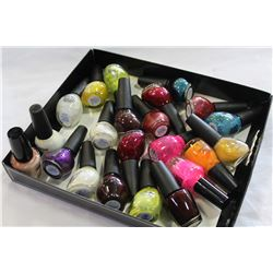 TRAY OF NICOLE NAIL POLISH