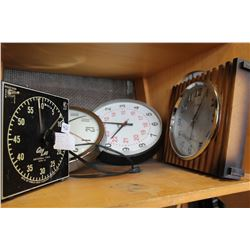 FOUR WALL CLOCKS