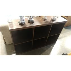 BROWN CUBICLE SHELF