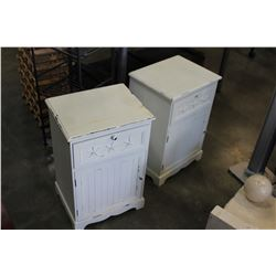 PAIR OF WHITE NIGHTSTANDS