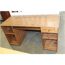 PINE DOUBLE PEDESTLE DESK