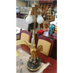 BRASS EAGLE TABLE LAMP