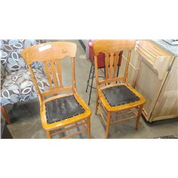 PAIR OF CANADIANA DINING CHAIRS