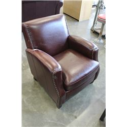 STUDDED LEATHER CHAIR