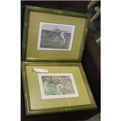 TWO VINTAGE FRAMED TENNIS PRINTS