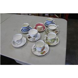LOT OF 8 BONE CHINA TEACUPS
