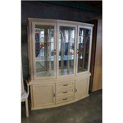 2 PIECE WHITE CHINA CABINET