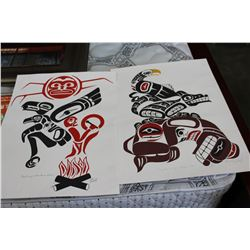 TWO SIGNED LIMITED EDTION FIRST NATIONS PRINTS
