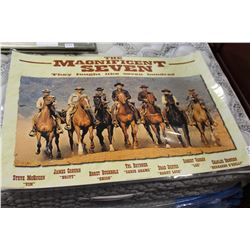 MAGNIFICENT 7 LAMINATED PRINT
