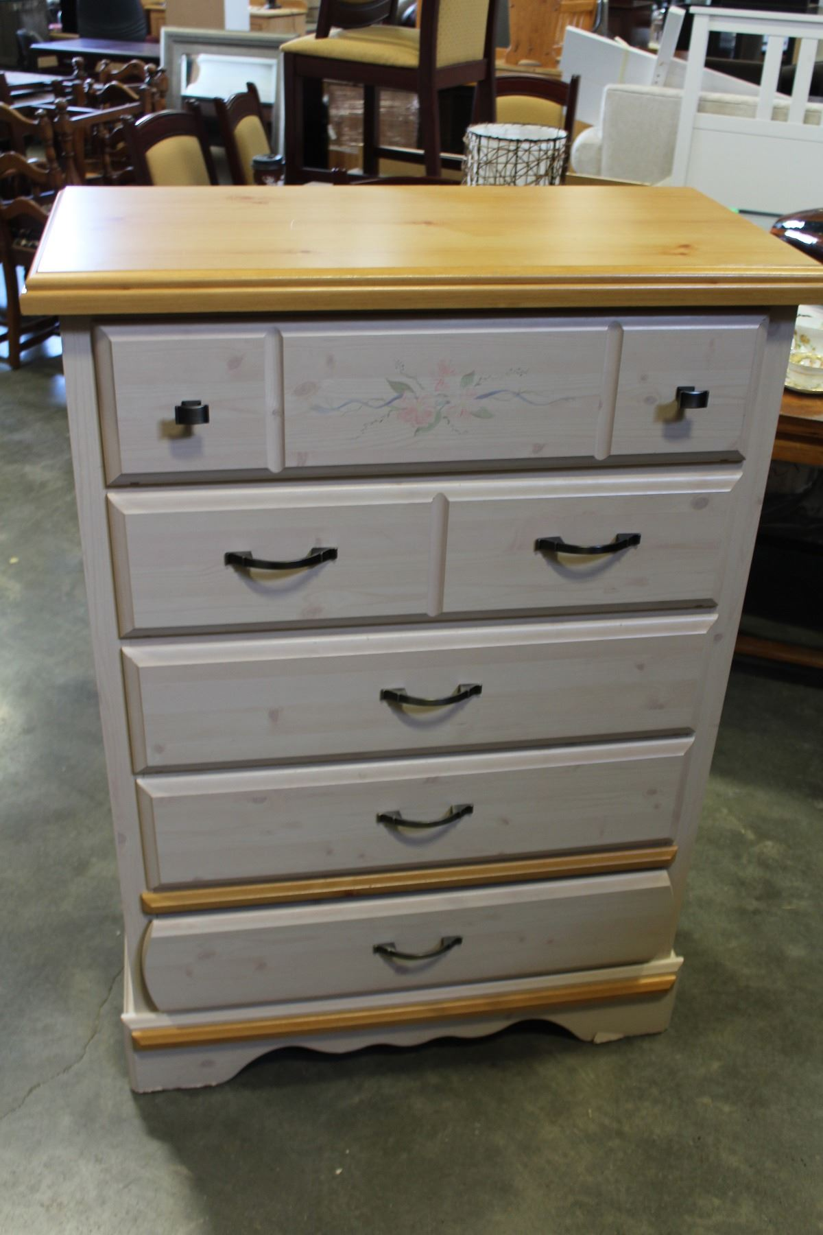 Image 1 five drawer kathy ireland highboy dresser