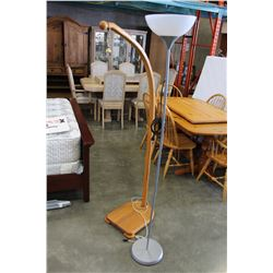IKEA FLOOR LAMP AND WOOD FLOOR LAMP