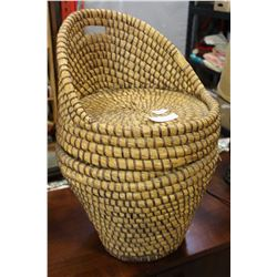 WOVEN BASKET CHAIR
