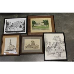 LOT OF ESTATE ART WORK