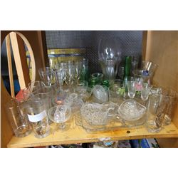 SHELF OF ESTATE GLASSWARES