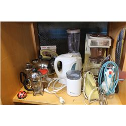 SHELF OF ESTATE KITCHEN APLIANCES