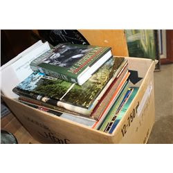 BOX OF HARDCOVER NOVELS AND COFFEE TABLE BOOKS