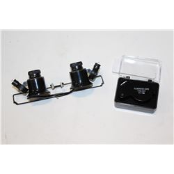 JEWELLERS LOUPE AND GLASSES