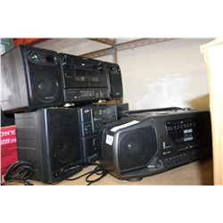 SONY SAMSUNG AND CURTIS BOOMBOXES