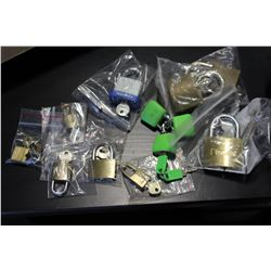 LOT OF PADLOCKS WITH KEYS