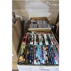 2 TRAYS OF DVDS