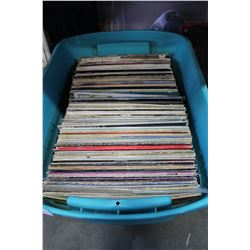 LARGE TOTE OF RECORDS