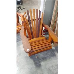 NEW CEDAR PATIO ARMCHAIR RETAIL $220