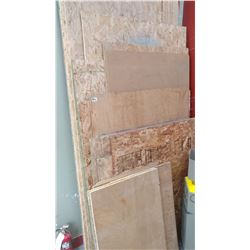 LARGE LOT OF 3/8 AND OTHER PLYWOOD SHEETS