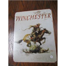Winchester Horse+Rider Sign Repro