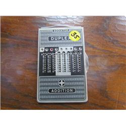 Duplex Antique double sided calculator