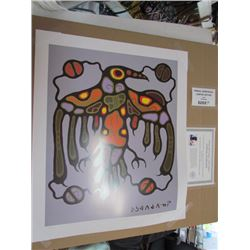 Norval Morrisseau Limited Edition Unframed Print  Sacred Thunderbird  20x24