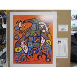 "Norval Morrisseau Limited Edition Unframed Print ""Man Changing into Thunderbird""20x24"