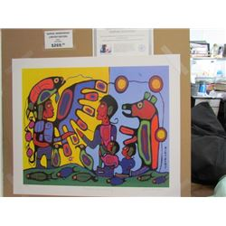"Norval Morrisseau Limited Edition  Unframed Print ""Thunderbird Shaman Teaching""20x24"