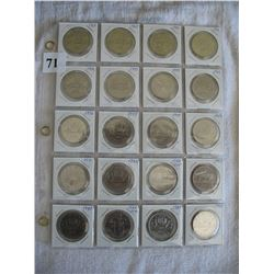 Canadian Dollars (Page of 20 Different)