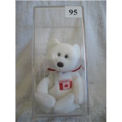 Ty Beanie Baby - Maple Bear in Case. - No Hang Tag