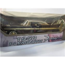 """Motor Max"" 1958 Plymouth Furry 1/18 Die Cast"