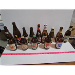 Collection of Brown Beer Bottles (14)