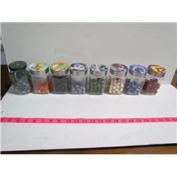8 Jars Sorted Marbles (Labeled) #1
