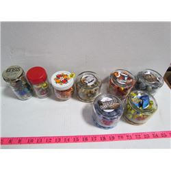 8 Jars Sorted Marbles (Labeled) #2