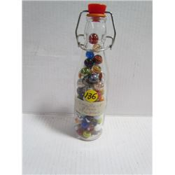 Glass Bottle -Smallest Glass Marbles