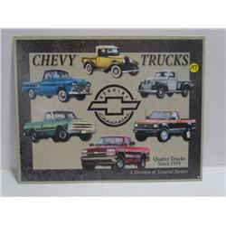 Chevy Trucks-Repro Sign-16x12.5