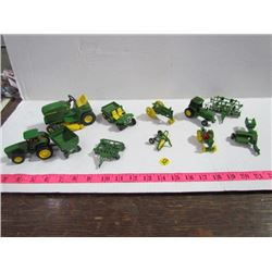 John Deer Miniatures with Attachments