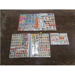 2 Stamp Book Collections+Business Stamps+Postmarks