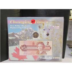 Changing Times -Two Dollar Bill/Toonie Collection
