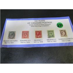 100 years Canadian Postage Stamp Collection