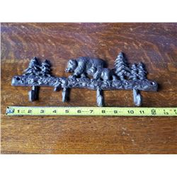Cast Iron Bears in the Woods Coat Hooks