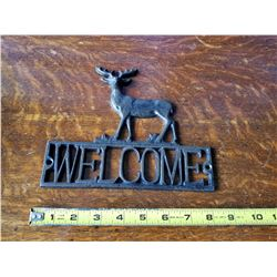 Cast Iron Deer Welcome Sign