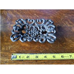 Cast Iron Flowered Soap Dish