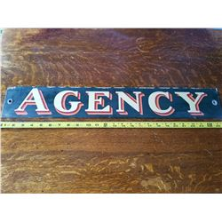 Railway (Agency) Porcelain Sign